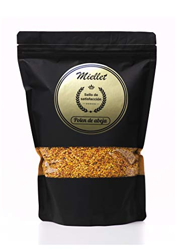 1000 gr - Miellet - Bee Pollen 100% Certificate of Spanish Origin. Rich in Protein, Vitamins B1, B3, Minerals, Omega-3, Fiber Source, Copper, Manganese, Phosphorus and folic Acid.
