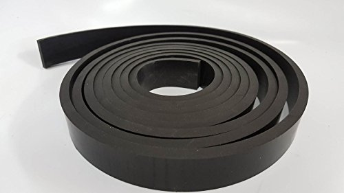 "Rubber Sheet Warehouse .250"" (1/4"") Thick x 2"" Wide x 5' Long -Neoprene Rubber Strip Commercial Grade 65A, Smooth Finish, Solid Rubber, Perfect for Weather Stripping, Gasket, Costume & DIY Projects …"