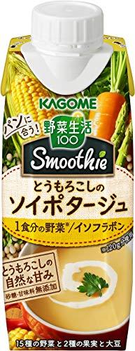 【セット商品】[2CS] 野菜生活100Smoothie(スムージー) とうもろこしのソイポタージュ(250g×12本)×2箱