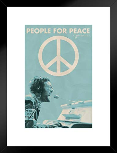 Pyramid America John Lennon People for Peace Music Matted Framed Poster 12x18 inch