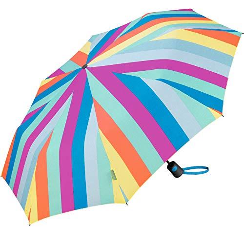 Paraguas Plegable Benetton Automático Antiviento Estampado Multi Stripes