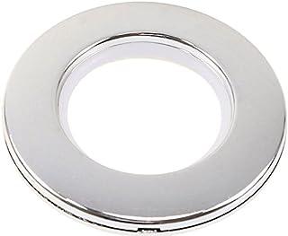 Marwotec Verbindungselemente 200 Stück Stoffösen für Stoffloch Durchmesser 40 mm, verwendbar für alle Stoffstärken, Kunststoff, Farbe Silber Glanz