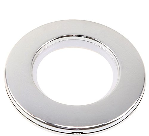 Marwotec Verbindungselemente 100 Stück Stoffösen für Stoffloch Ø 40 mm, verwendbar für alle Stoffstärken, Kunststoff, Farbe Silber Glanz