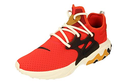 Nike React Presto Hombre Running Trainers AV2605 Sneakers Zapatos (UK 6.5 US 7.5 EU 40.5, Habanero Red Black White 600)