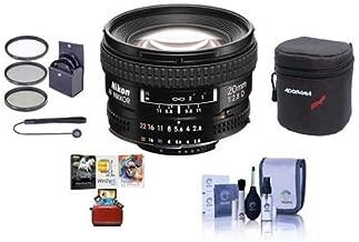 Nikon 20mm f/2.8D ED AF NIKKOR Lens, USA Warranty - Bundle with 62mm Filter Kit (UV/CPL/ND2), Soft Lens Case, Lens Cleaning Kit, Lens Cap Leash, Mac Software Package