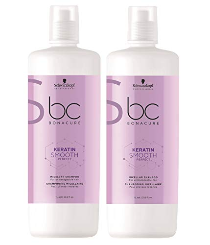 Schwarzkopf 2 er Pack Schwarzkopf BC Keratin Smooth Shampoo 1000 ml