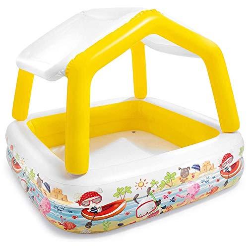 Generic002 Inflable Piscina for los niños con toldo, Familia del Verano al Aire Libre Interactivo Piscina, Baby Océano Ball Pool Pesca de Arena Piscina