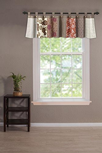 Greenland Home Stella Authentic Patchwork Tab Top Window Valance