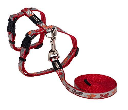 Rogz Catz ReflectoCat Lead and Harness, Red