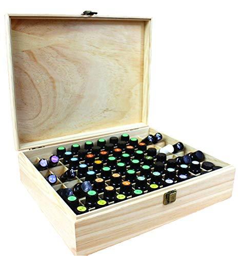 MUUZONING Madera Caja de almacenaje Aceites Esenciales para 68 Botellas Caja de Almacenamiento de Aceite Contenedor Estuche Organizadores para Cuentagotas, Perfume, Aceite Esencial, CosméTica #3