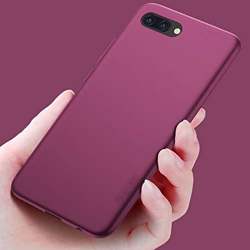 X-level für Honor 10 Hülle, [Guardian Serie] Soft Flex Silikon Premium TPU Echtes Telefongefühl Handyhülle Schutzhülle Kompatibel mit Honor 10 Case Cover - Weinrot - 5