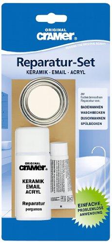 Cramer 16850DE Reparatur-Set Email, Acryl, Keramik, manhattan – zur dauerhaften Reparatur von Badewannen, Duschwannen und Waschbecken