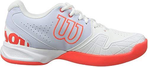 WILSON Damen Kaos Devo Carpet W Tennisschuhe, Weiß/Hellblau/Rot, 39 2/3 EU