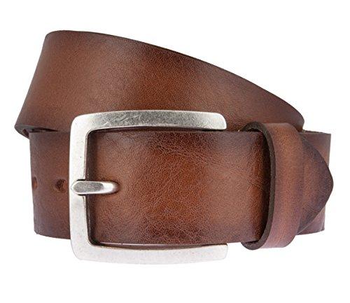 Lloyd Mens Belts Lloyd 1015 05 Herren Leder Gürtel mit Metallschließe in trendiger Used Optik, Groesse 85, braun
