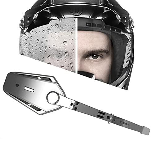 BrightFootBook Universal Motorradhelm Elektrischer Scheibenwischer, Motorhelm Scheibenwischer, Muss für Motorrad Regenbekleidung