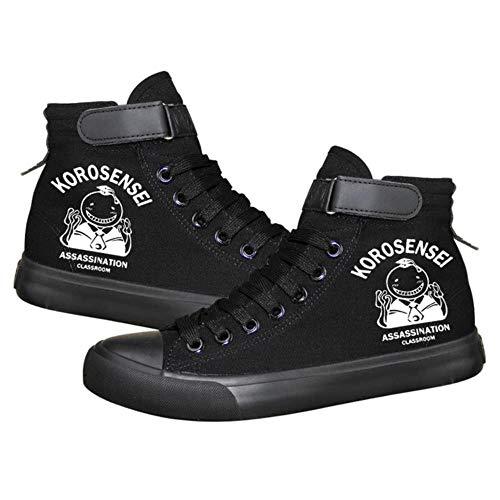 pZgfg Canvas Shoes Unisex Anime Assassination Classroom Korosensei Zapatos De Lona Informales Zapatillas De Lona Zapatos con Suela De Cuerda 35
