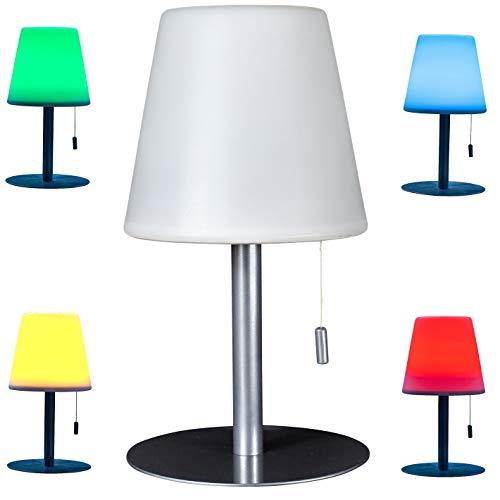Northpoint Aufladbare LED Tischlampe 4400mAh Akku 30 Stunden Laufzeit Tischleuchte 30cm Warmweiß Farbwechsel Dimmbar Wasserfest