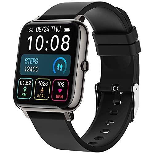 Smartwatch, Orologio Fitness Smart Watch Uomo Donna, Activity Tracker con Contapassi, Notifiche Messaggi, Cardiofrequenzimetro, Calorie, IP68 Smartband Fitness Tracker Sportivo per Android iOS