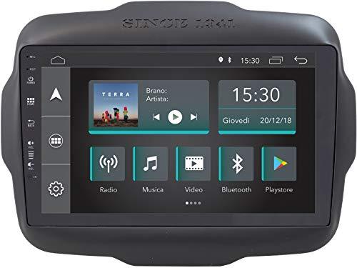 Jfsound, Autoradio Custom Fit, Jeep Renegade, con Android 8.1 4Core, con 2GB di RAM e Antenna GPS Integrata, Easyconnect