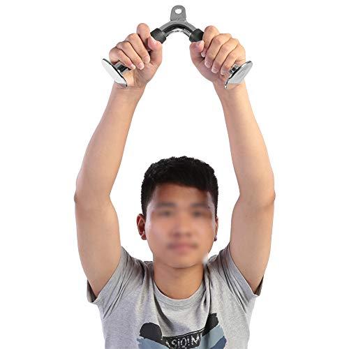 Barra de plata tríceps, con acero 30 * 19 * 7.5cm gimnasio mango de cable de ejercicio