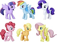 COLLECT THE MANE 6: These 6 best friends go everywhere together; Meet the Mane 6 Ponies Collection features 6 favorite characters from the My Little Pony TV show: Twilight Sparkle, Pinkie Pie, Rainbow Dash, Rarity, Fluttershy, and Applejack MY LITTLE...