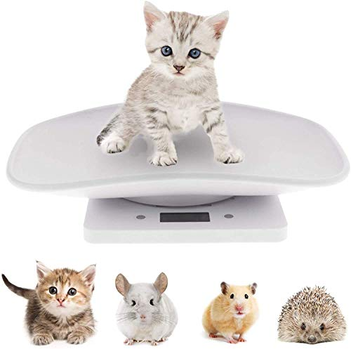 Digital Pet Scale Baby Scale Food Weight Mini Scale LCD Electronic Scales for Measure Small Dog Cat Small Animals Pet Food (Mini Pet Scale)