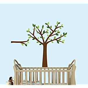 Green Tree Wall Decals, Nursery Décor, Babys Room Wall Decals