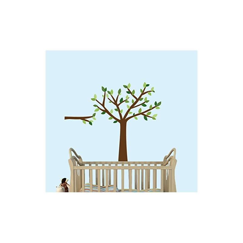 crib bedding and baby bedding green tree wall decals, nursery décor, babys room wall decals