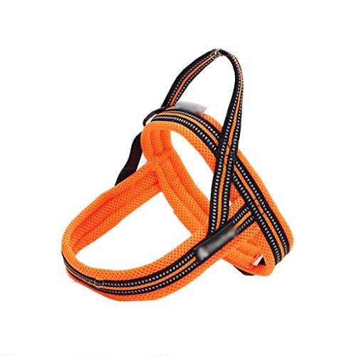 Pet borst riem tractie touw borst terug vest-stijl Hond ketting reflecterende strips zacht comfortabel stevig duurzaam (kleur: D, Maat : XL 80-92CM)
