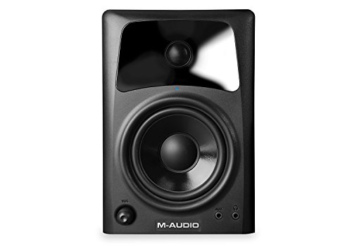 M-Audio AV42   Compact Active Desktop Reference Monitor Speakers For Premium Playback, Professional Media Creation and Immersive Gaming Sound
