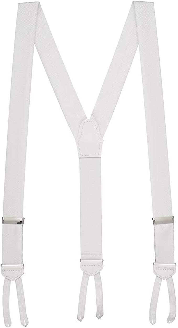 Men's Vintage Style Suspenders Braces SuspenderStore Mens Jacquard Silk Basket Weave Suspenders - Runner End  AT vintagedancer.com