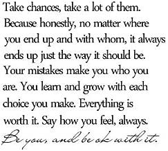 take chances take a lot of them