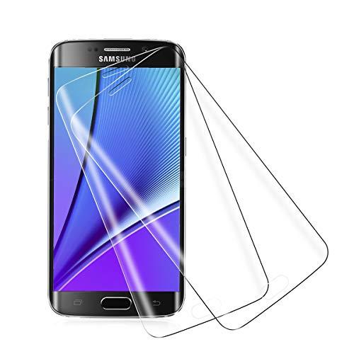[2 Stück] Panzerglas für Samsung Galaxy S6 Edge Schutzfolie, 3D Curved Full Cover 9H Härte Glas Folie Anti-Öl Blasenfreie [Anti-Kratzen] [Anti-Fingerabdruck] HD Displayschutzfolie für Galaxy S6 Edge
