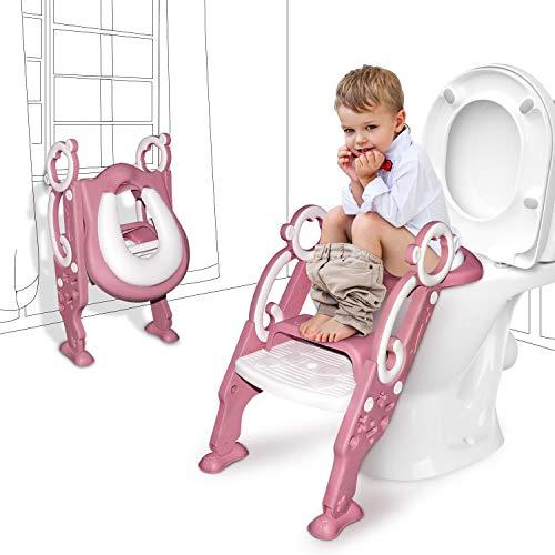 GrowthPic おまる トイレトレーナー 補助便座 オマル 折りたたみ 尿もれカバー付き トイレ用 取外し可能 子供用 踏み台 ステップ式 トイレトレーニング
