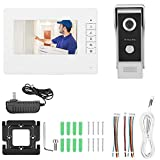 Simlug Cámara de Timbre de Video WiFi, 7 Pulgadas TFT/LCD HD Videoportero con Cable Timbre de...