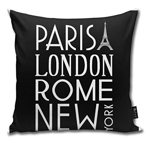 Zara-Decor Parijs, Londen, Rome en New York Home Decoratieve Kussensloop Kussensloop voor Gift Home Couch Bed Car 18