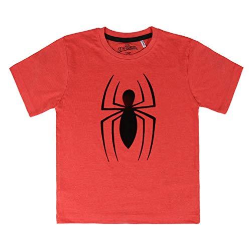 Cerdá Camiseta Manga Corta Premium Spiderman, Rojo (Rojo C06), 7 para Niños