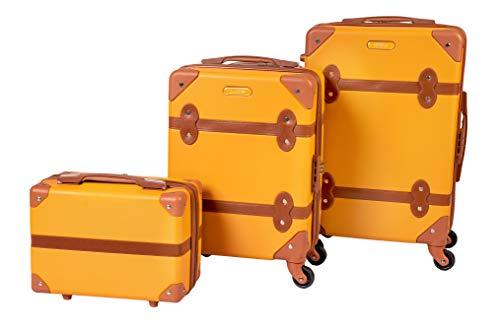 Enrico Coveri Moving Set Due Trolley + Beauty Case da Viaggio, Valigie Rigide ABS in Due Dimensioni (Arancio)