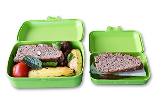 Greenline SNAP Lunchbox+Bentobox Brotdose Groß+Klein Grün Bio-Kunststoff Vegan