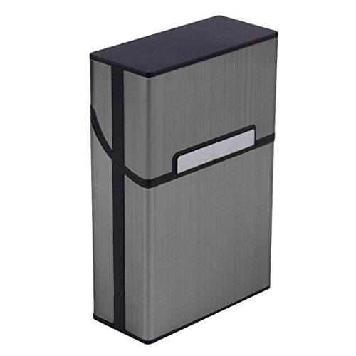 VWH Leichte Aluminium Zigaretten Kasten (grau)