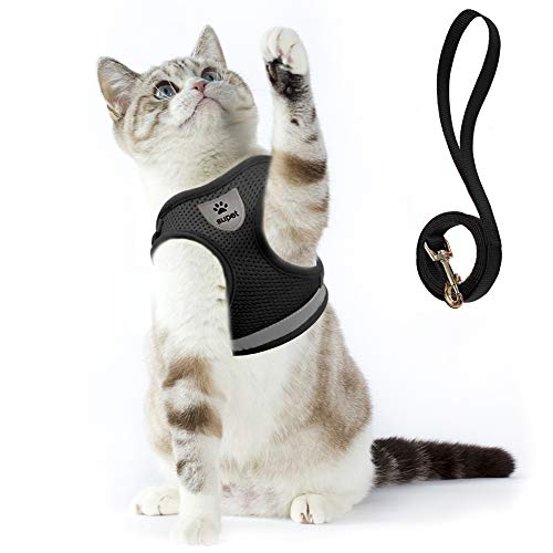 Cat Harness and Leash Set for Walking Cat and Small Dog Harness Soft Mesh Harness Adjustable Cat Vest Harness with Reflective Strap Comfort Fit for Pet Kitten Puppy Rabbit