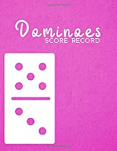 """Dominoes Score Record: Game Score Record Keeper Book, Scorekeeping Pads, Scoring Sheet, Indoor Games recorder Notebook Gifts for Friends, Family, ... 8.5""""x11"""", 120 pages. (Dominoes Scorebook)"""