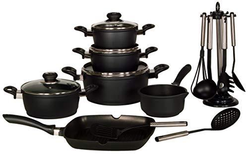 KRÜGER 17/S Sets de poêles et casseroles Noir Fonte d'aluminium