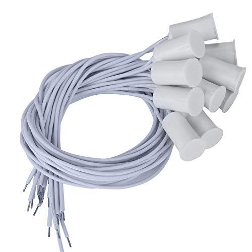 FOLOSAFENAR Sensor 10Pcs Sensor de Ventana Alarma de Interruptor magnético con Cable, para Puerta