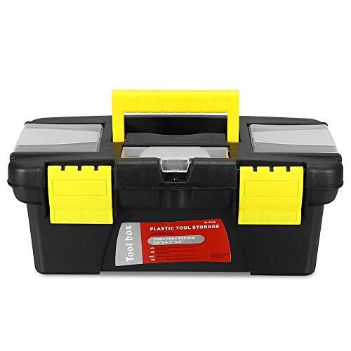 Caja de herramientas portátil 10 pulgadas multifuncional caja de herramientas portátil caja de herramientas de almacenamiento de plástico para herramientas y piezas pequeñas