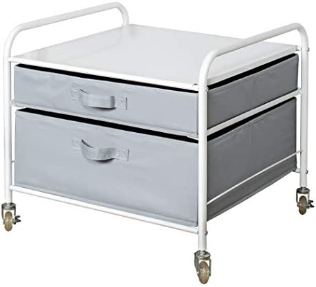 The Fridge Stand Supreme Drawer Organization White Frame with Light Gray Drawers product image