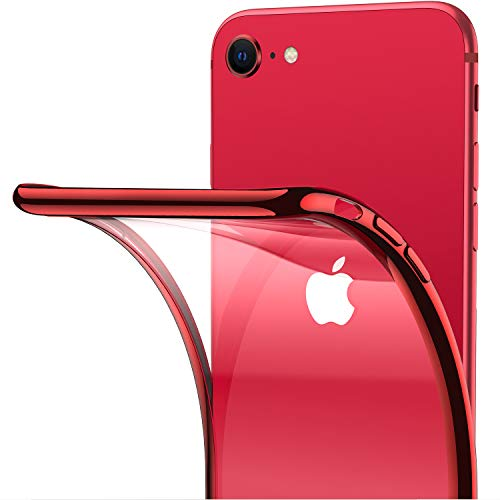 Anti-Yellow Military Grade Drop Protective Slim Hard Back with Soft Black Rim Cover Case for iPhone SE 2020-Red Specifically for iPhone SE2 TORRAS Diamond Clear Case for iPhone SE 2020 Case,