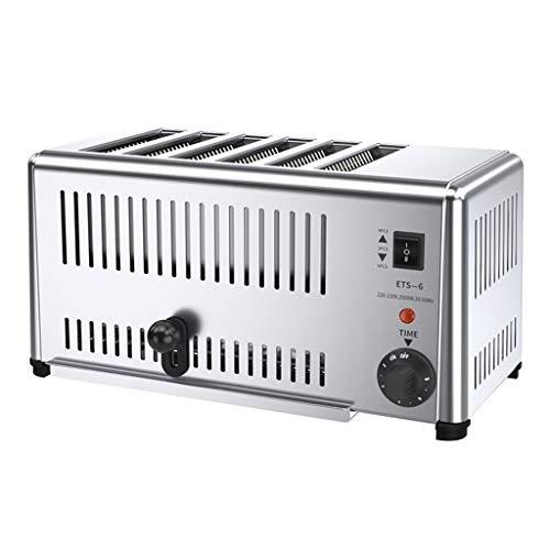 Toaster Toaster Frühstück Automat Hotel Commercial Toaster 6-Scheibe gegrilltes Bun Oven Barbecue Clip Bun Toaster Krümelfach