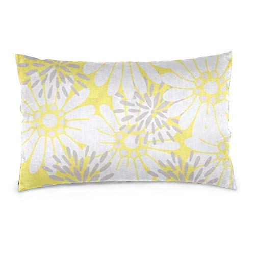 Lesif Fundas de cojín de terciopelo, rectangulares, fundas de almohada suaves, decorativas para sofá, dormitorio, coche, 40,6 x 60,9 cm, color amarillo