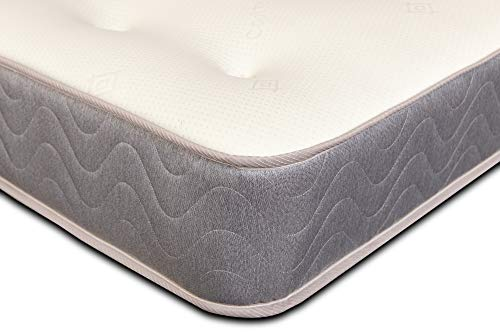 Extreme Comfort - Small Double Mattress. 4ft Memory Foam Mattress with Springs Featuring a Grey Border and 9 Inch Deep (4ft x 6ft3, 120cm x 190cm)